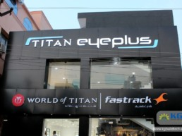 Titan Eye Plus, Fastrack, World Of Titan Showroom Interiors at Mogappair, Chennai