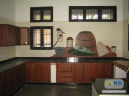 Interiors for Modern Kitchen & Tiles Works Thuraipakkam